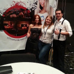 At the ModelCentro booth checking out their banner with my xxx site on it ;)