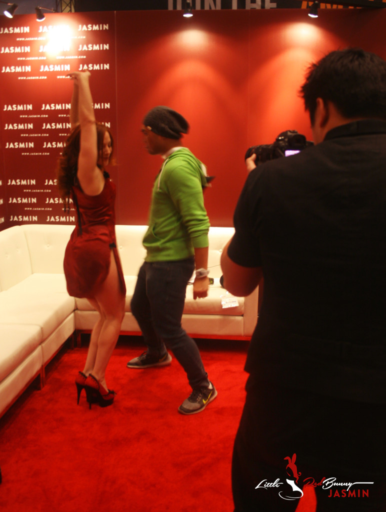 After our interview, the guys from Nerd Reactor wanted me to do a little dance with them.