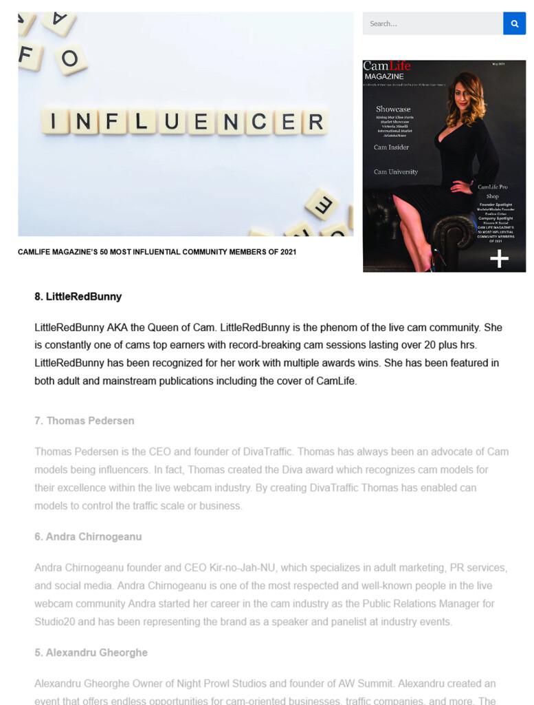 CamLife Mag Influencer 8 2021